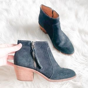 Madewell Suede Black Booties Size 6